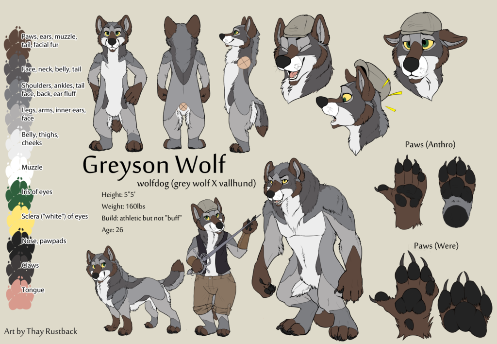 Most recent character: Greyson Wolf