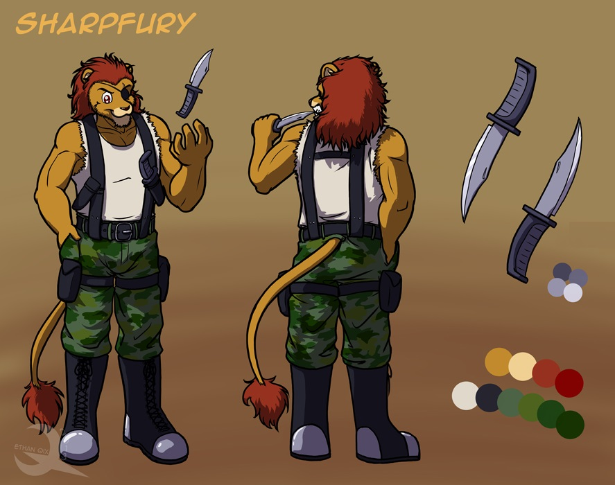 Most recent character: Sharpfury (Garrett Redmane)