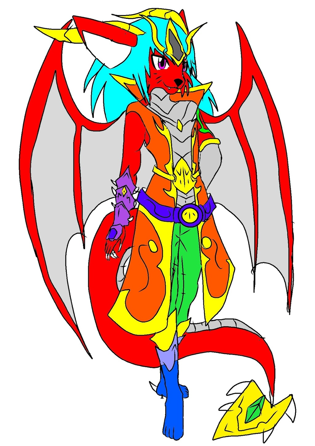 Most recent character: KAKUMO, THE DRACAT  COLORED