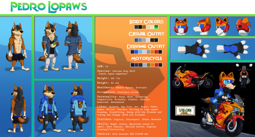Most recent character: Pedro Marcos Lopaws