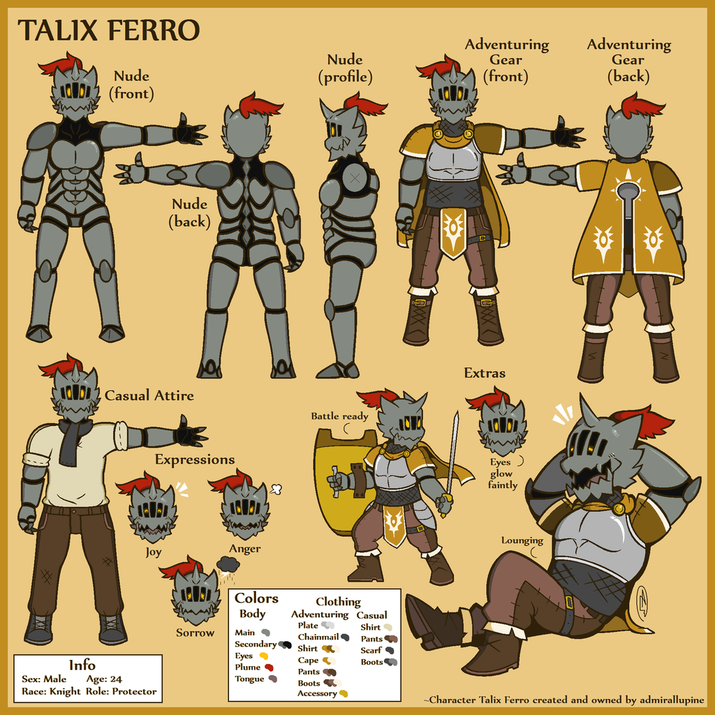 Most recent character: Talix Ferro