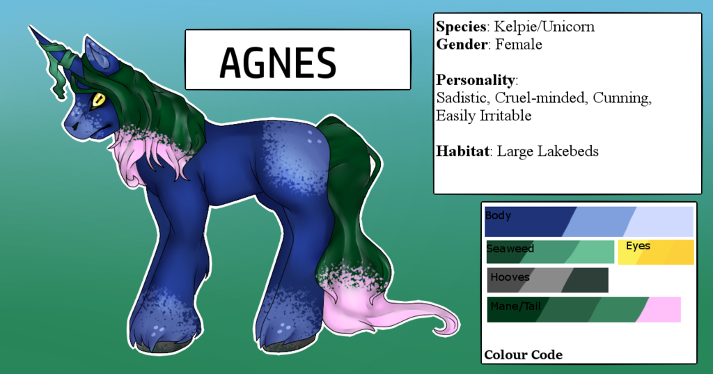 Most recent character: Agnes