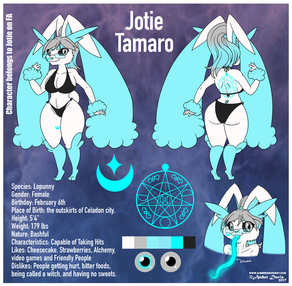 Most recent character: Jotie the Lopunny