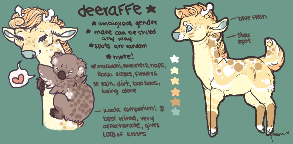 Most recent character: Deeraffe