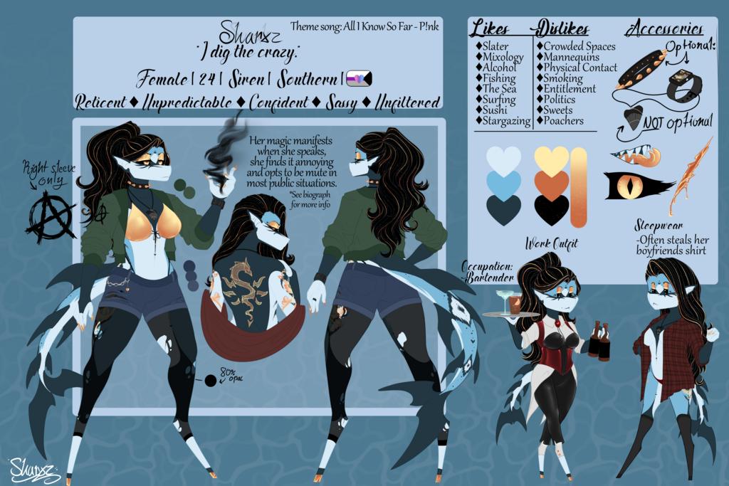 Most recent character: Sharxz | Sarah