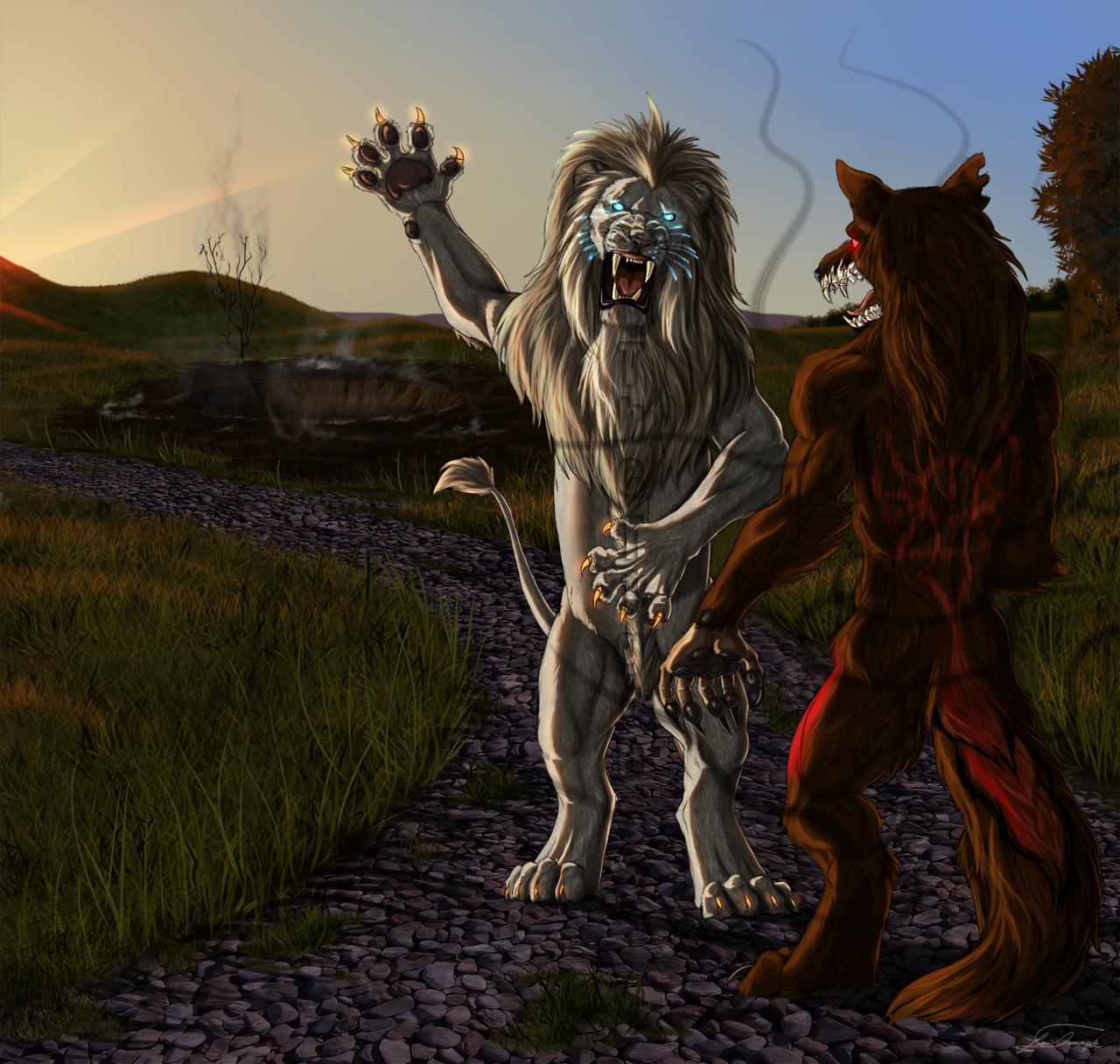 Letsatsi - White Lion Warrior — Weasyl