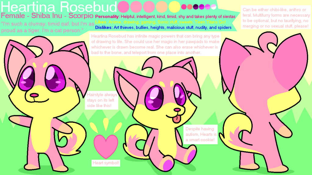 Most recent character: Heartina Rosebud '20