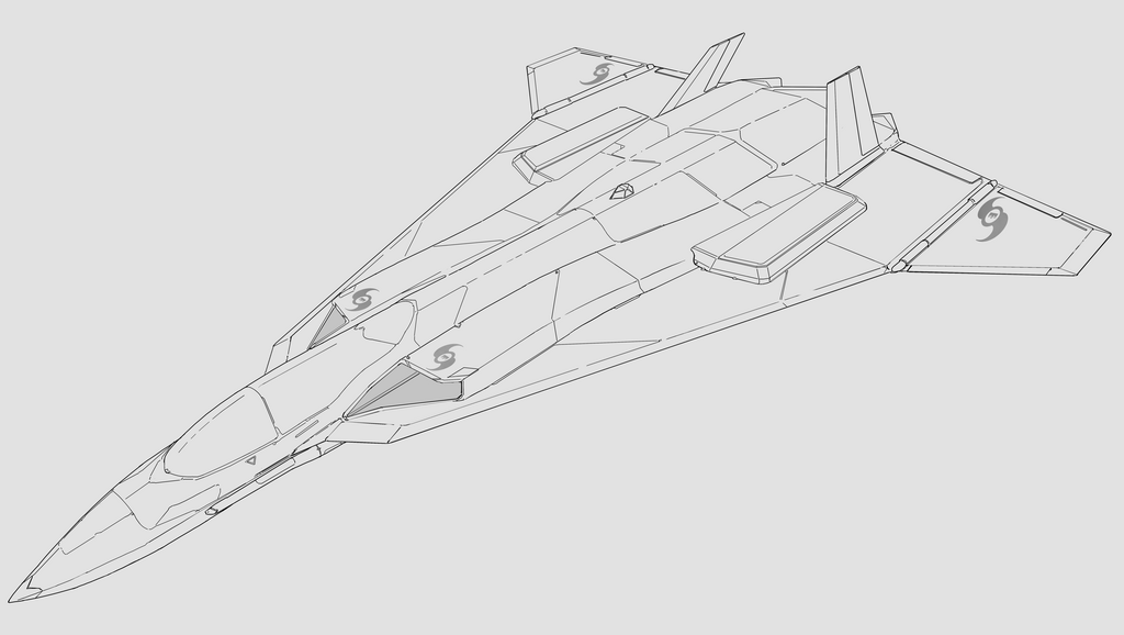 Tolesian FUA-3 Fighter Bomber Top Front