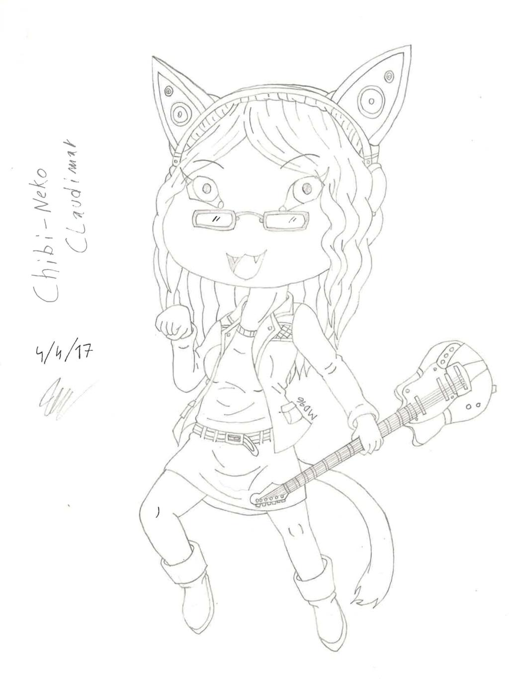 Chibi Emma (Claudimar) - Original sketch