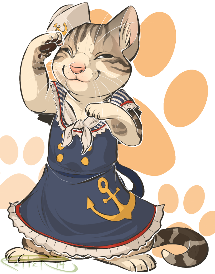 #draw your cat in a dress day