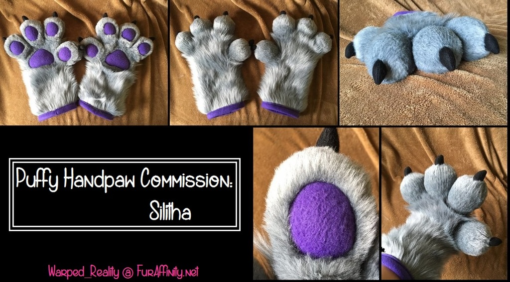 Puffy Handpaws Commission - Silitha