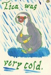 watercolor practice: Tica was very cold