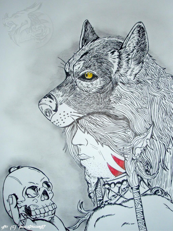 [Indian Ink art] Elf Shaman