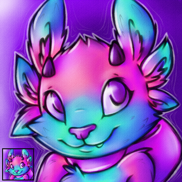 Pink Axo-Dragon Icon