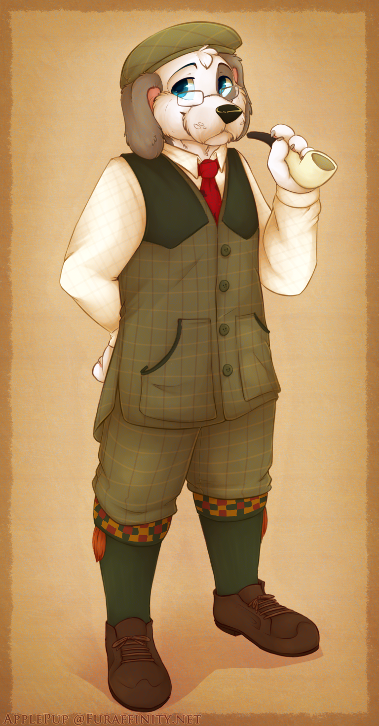 English Hunter Barnaby by ApplePup