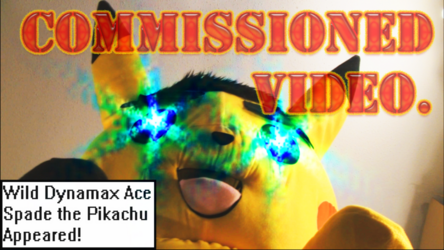 """Mascot Fursuiting: Dynamax Ace Spade the Pikachu Used """"Stomp"""" (Commission)"""