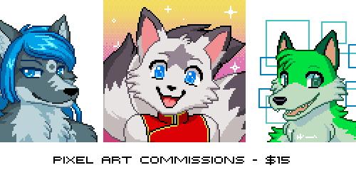 Pixel Portrait commissions - $15USD!