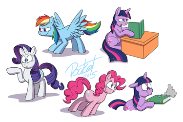 some more pony doodles
