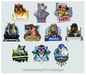 AB 2014 badges