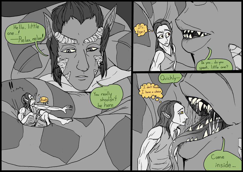 Professional Elf Smuggler--B&W Short-Comic--2