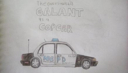 The Galant as a cop car