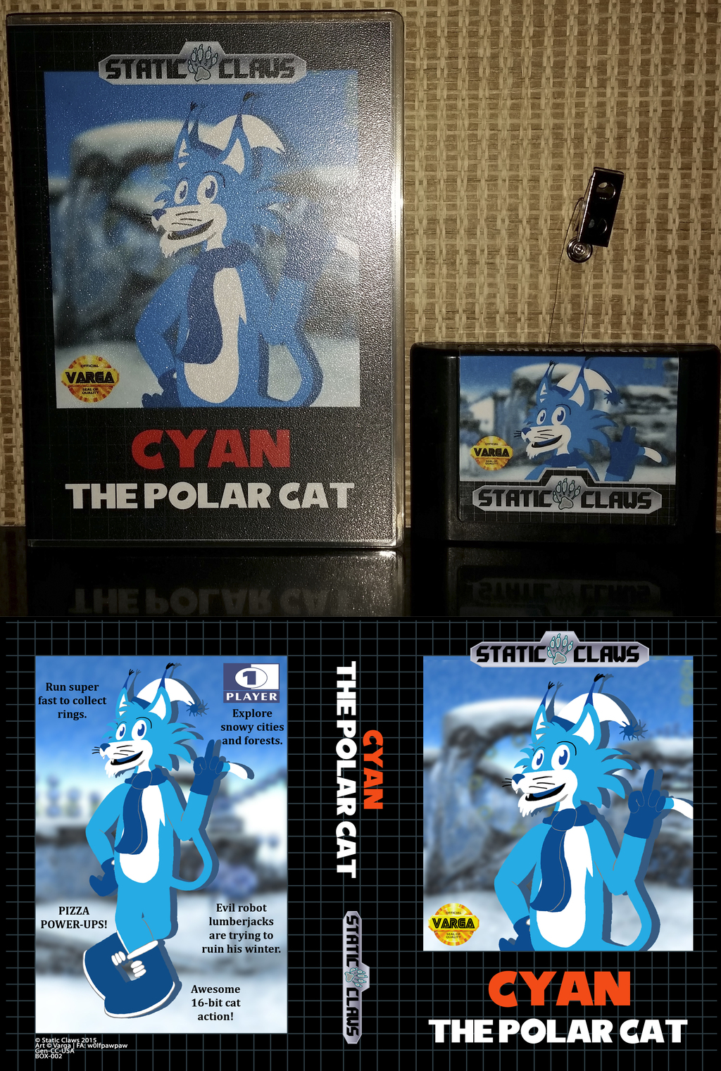 Cyan the Polar Cat [cartridge badge]