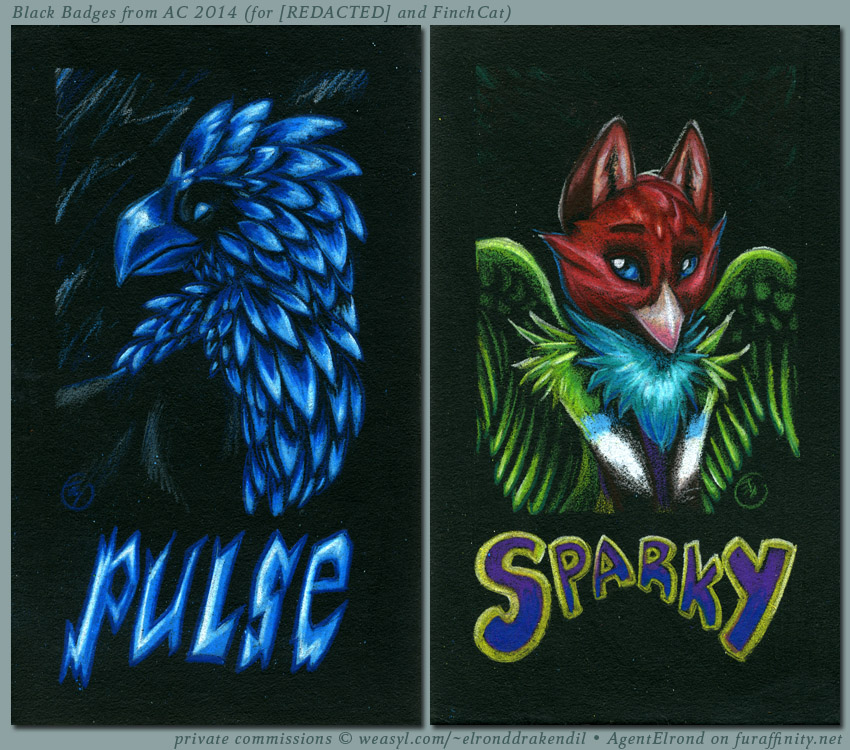 Back Badges - Pulse and Sparky