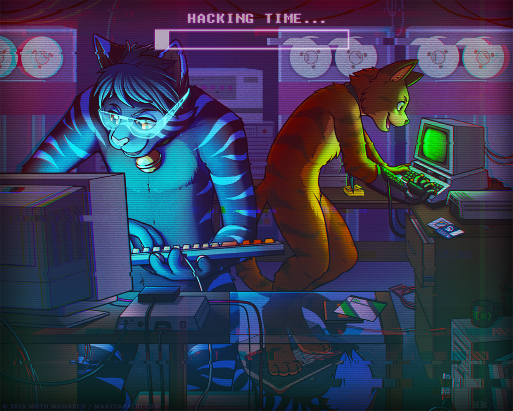Most recent image: RETROWAVE: Hackercats