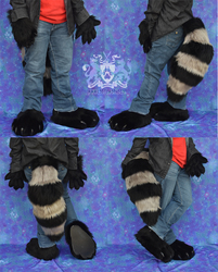 Raccoon Hands/Feet/Tail Set