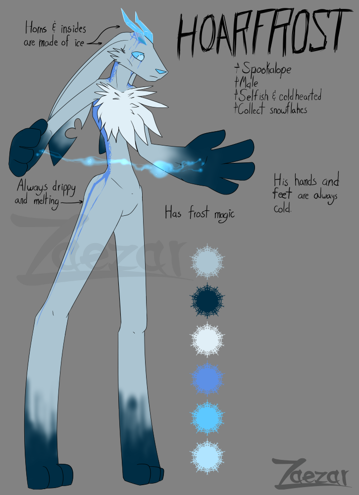 Spookalope Adoptable: Hoarfrost [Adopted]