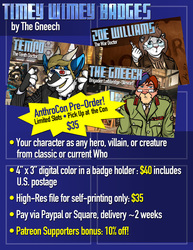 Timey-Wimey Badges- AnthroCon Pre-Orders!