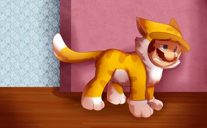Mario Cat by BaconBloodFire