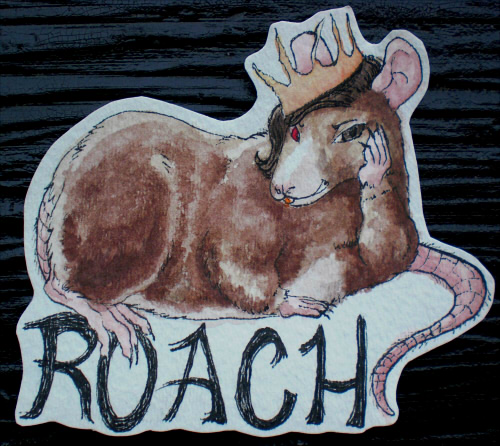 Roach Badge for Morticia