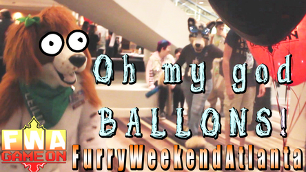 Dog Plays With Ballons While Another Rips His Mowhawk Off Furry Weekend Atlanta 2017