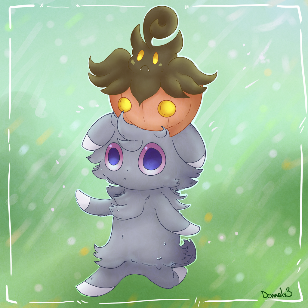 Espurr and Pumpkaboo