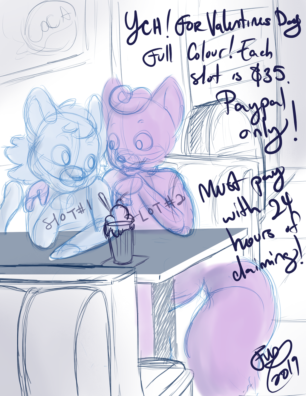 :YCH: Malt Shoppe