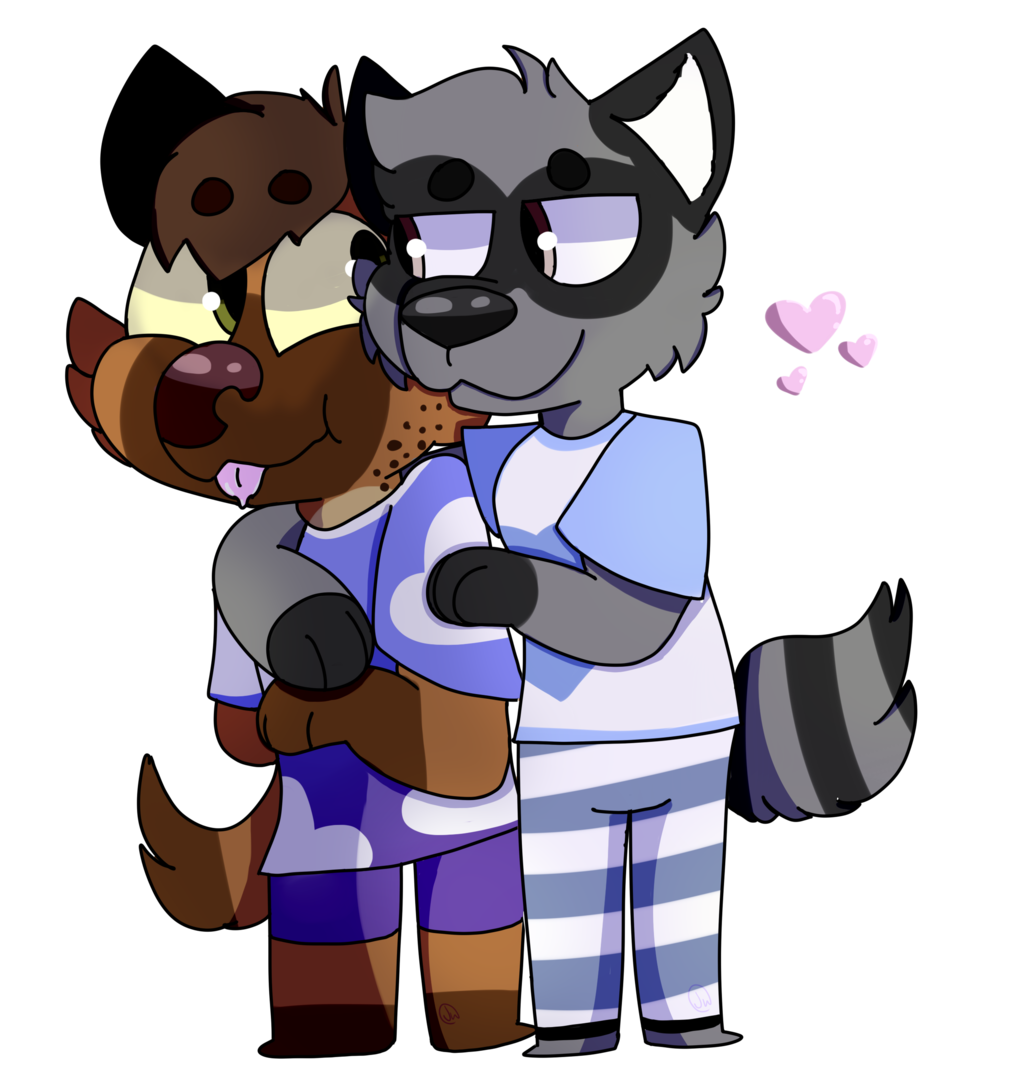 Nighttime Hugs (commission by CoolKidPeri)