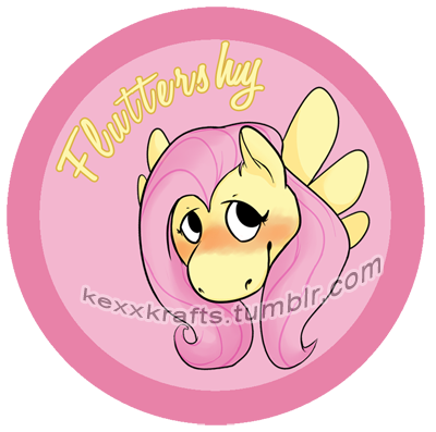 Fluttershy Button