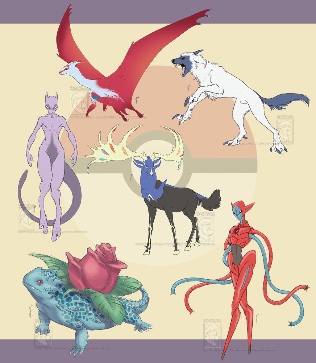 Pokemon 20th Anniversary Sketches