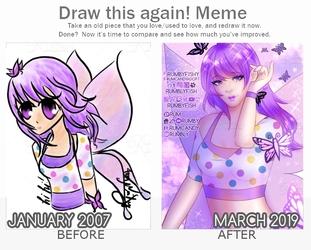Draw This Again 💜 Purple Fairy