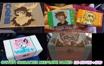 Custom Character Keepsake Boxes