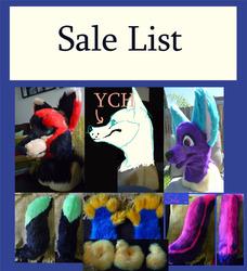 Fursuit Sale List