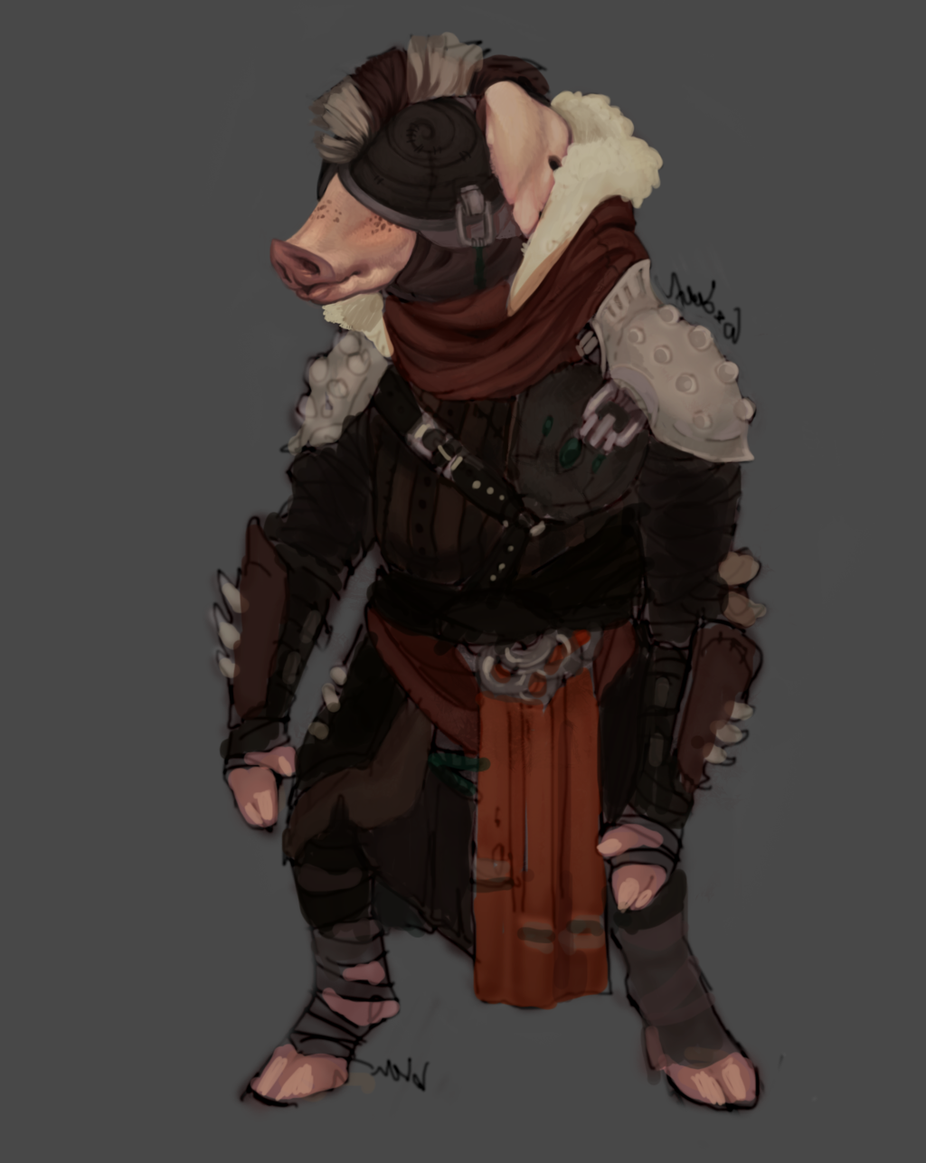 Most recent image: Billy wip