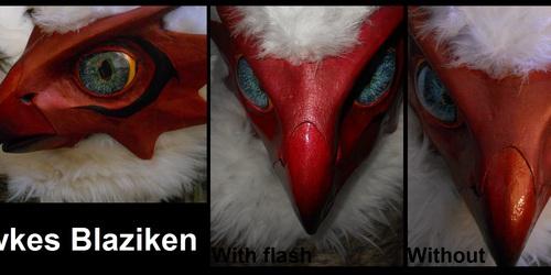 Blaziken Mask Close