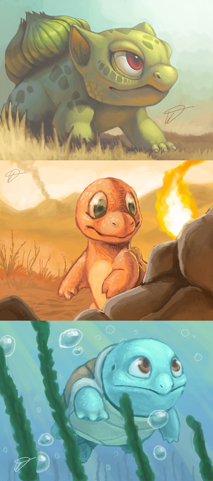 3DS Kanto starters