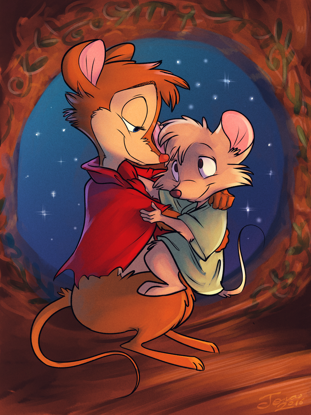 Mrs. Brisby and Timothy (by Jonas)