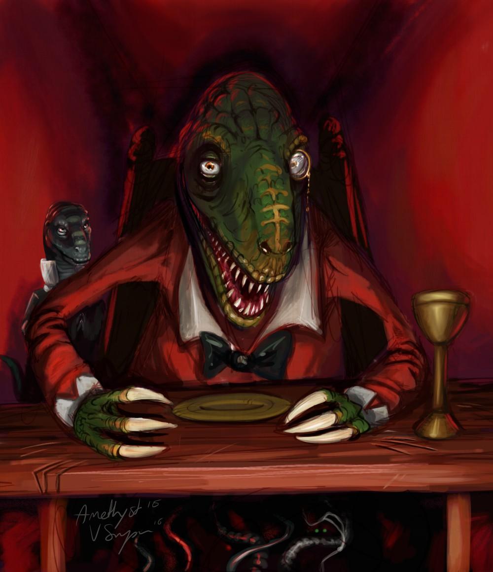 The Triassic Dinner Club - Speedpaint