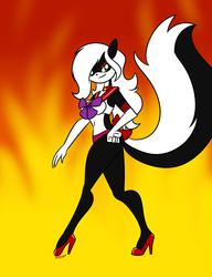 Annette in Sailor Mars Underwear