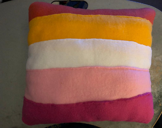 LGBT Lesbian Pride Flag Throw Pillow Commission