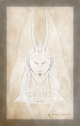 Echsaryn - Artwork - Fantasy - Sazaril - Head - 02